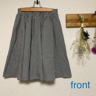 ディスコート(Discoat)のdiscoat ギンガムチェックフレアスカート(ひざ丈スカート)