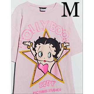 【新品未使用】ZARA ベティ・ブープ Tシャツ BETTY BOOP M(Tシャツ(半袖/袖なし))