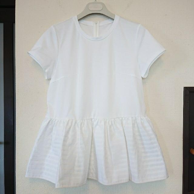 新品、未使用 BORDERS at BALCONY ペプラム TEE レディースのトップス(Tシャツ(半袖/袖なし))の商品写真