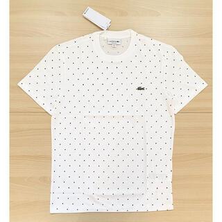 ラコステ(LACOSTE)の★美品★ LACOSTE ドット ホワイト ロゴ Tシャツ(Tシャツ/カットソー(半袖/袖なし))