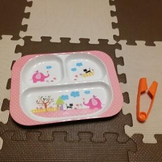 ルクルーゼ(LE CREUSET)の【2点】ル・クルーゼ 麺カッター×ベビー用ランチ食器(離乳食器セット)