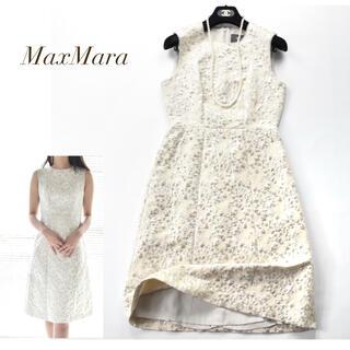 Max Mara - 新品同様 MaxMara 最高峰ブラックタグ ピアノフォルテワンピース