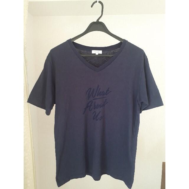 BEAUTY&YOUTH UNITED ARROWS(ビューティアンドユースユナイテッドアローズ)のBEAUTY & YOUTH  BY W.A.U ロゴ Vネック Tシャツ メンズのトップス(Tシャツ/カットソー(半袖/袖なし))の商品写真