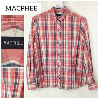 マカフィー(MACPHEE)のMACPHEE チェックシャツ マカフィー 38(シャツ/ブラウス(長袖/七分))