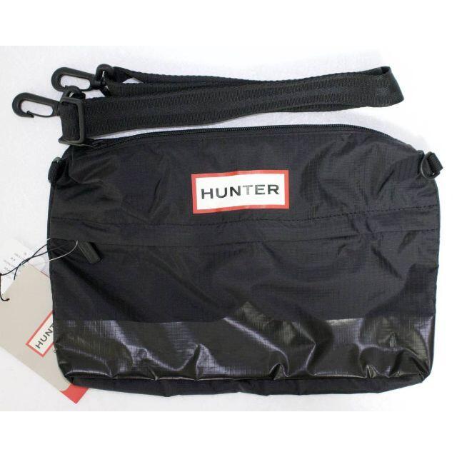 HUNTER(ハンター)の定価5500 新品 本物 HUNTER ブラック サイドバッグ 2016 レディースのバッグ(ショルダーバッグ)の商品写真