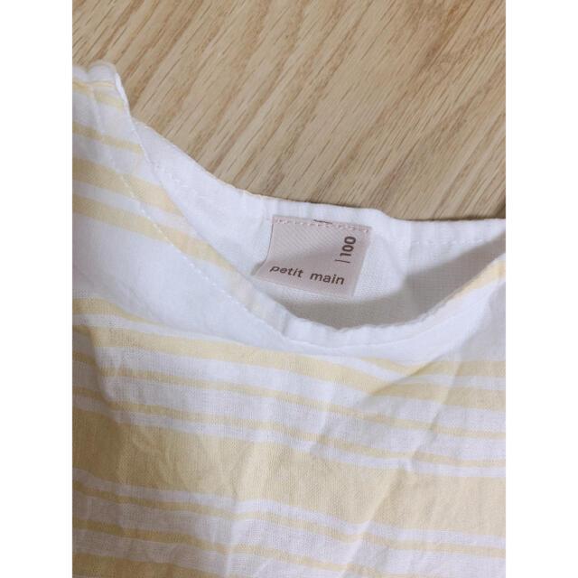 petit main(プティマイン)のプティマイン チュニック 100cm 女の子 夏物 キッズ/ベビー/マタニティのキッズ服女の子用(90cm~)(Tシャツ/カットソー)の商品写真