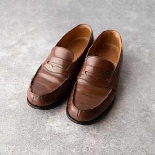 ジェーエムウエストン(J.M. WESTON)のjmウエストン 180 シグネチャーローファー タンブラウン 4D 美品(ローファー/革靴)