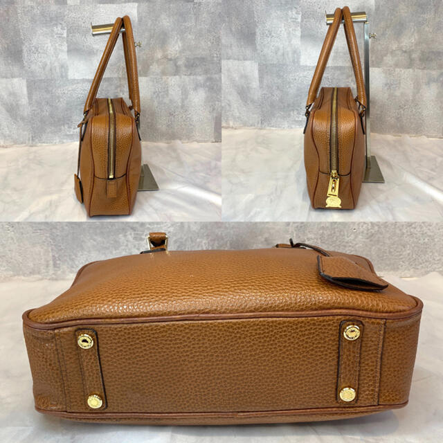 A.D.M.J.(エーディーエムジェイ)の【A.D.M.J】エーディーエムジェー ブラウン レザー トートバッグ 日本製 レディースのバッグ(トートバッグ)の商品写真