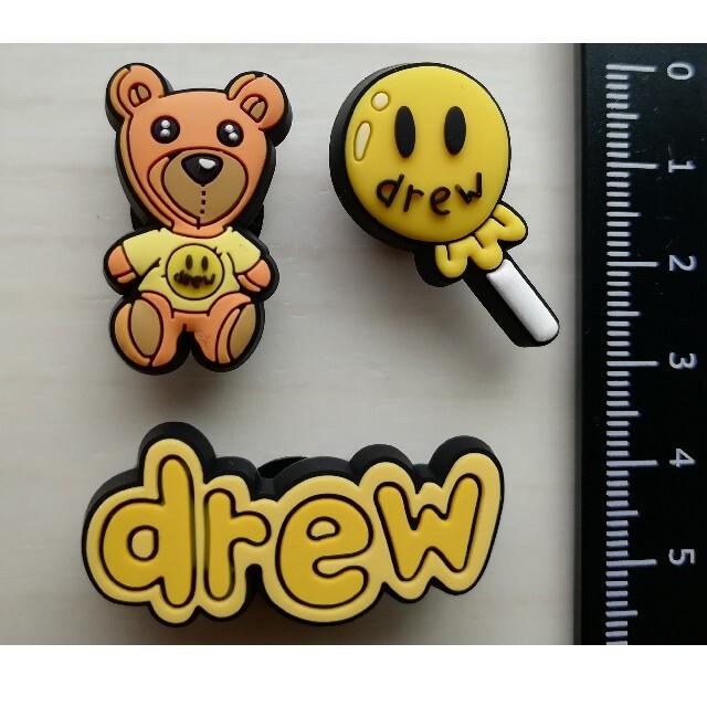 drew house クロックス アクセサリー 3個セット エンタメ/ホビーのおもちゃ/ぬいぐるみ(キャラクターグッズ)の商品写真