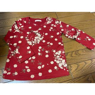 ピンクハウス(PINK HOUSE)のベビーピンクハウス110 コスモス柄長袖カットソー(Tシャツ/カットソー)