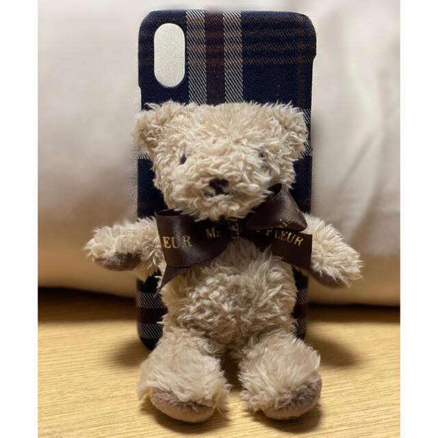 Maison de FLEUR(メゾンドフルール)のメゾンドフルール iPhone ケース くま クマ テディベア X/XS スマホ/家電/カメラのスマホアクセサリー(iPhoneケース)の商品写真