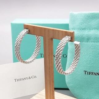 Tiffany & Co. - 美品 ティファニー サマセット ラージ フープ ピアス