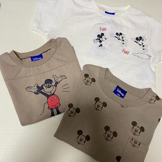 しまむら - レトロミッキー Tシャツ 3点set