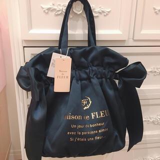 Maison de FLEUR - Maison de FLEUR メゾンドフルール ギャザー2Wayトートバッグ