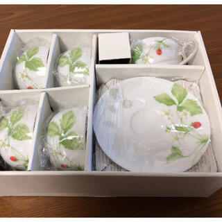 ジョバンニ ヴァレンチノ 野いちご  ティー・コーヒー 碗皿 5客セット