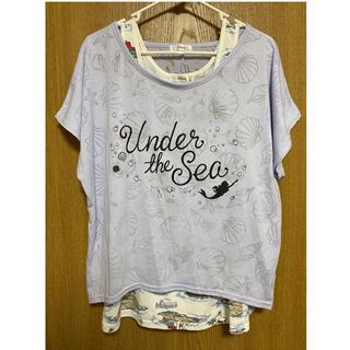 ディズニー(Disney)のディズニー リトルマーメイド Tシャツ タンクトップ セット(Tシャツ(半袖/袖なし))