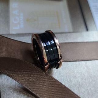 ブルガリ(BVLGARI)のBVLGARIブルガリ リング  ブラックセラミック 57#(リング(指輪))
