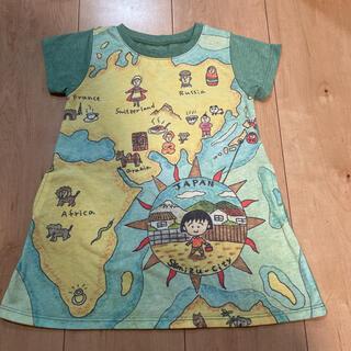 グラニフ(Design Tshirts Store graniph)の90cm グラニフ さくらももこ ちびまる子ちゃん ワンピース☆(ワンピース)