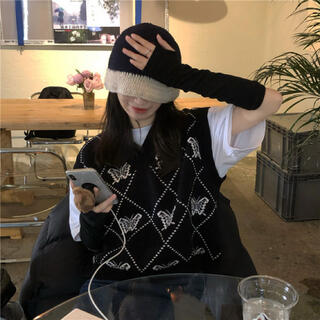 STYLENANDA - 韓国ファッション♡バタフライベストニット