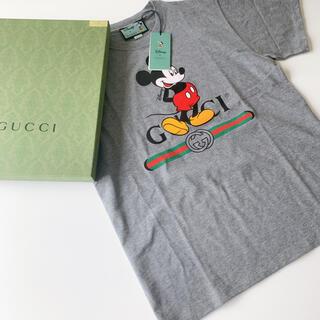 Gucci - タグ付き グッチ ミッキー プリント Tシャツ グレー