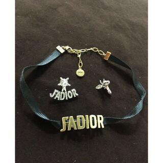 クリスチャンディオール(Christian Dior)のDiorのネックレス、ピアス 2点セット(ネックレス)