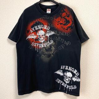 トリプルエー(AAA)の【00s】【バンT】アヴェンジドセヴンフォールド メタル バンドTシャツ スカル(Tシャツ/カットソー(半袖/袖なし))