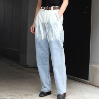 feng chen wang acid washed jeans