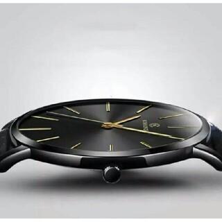薄型軽量アナログウォッチ 黒 メンズ 腕時計 ベーリング・スカーゲン型 (腕時計(アナログ))