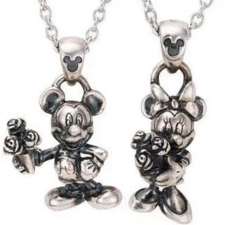 ディズニー(Disney)のwhite clover / Disney Series デザインペアネックレス(ネックレス)