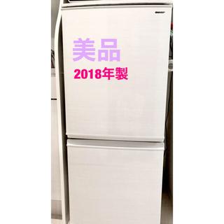 SHARP - 【美品】SHARP SJ-D14D-W 2018年製 両開きドア 冷蔵庫