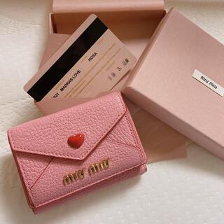 miumiu - 新品定価以下♡マドラスラブ♡ミニ財布♡ピンク
