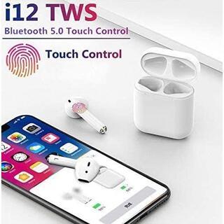 【送料コミ】 ワイヤレスイヤフォン TWS-i12 bluetooth(ヘッドフォン/イヤフォン)