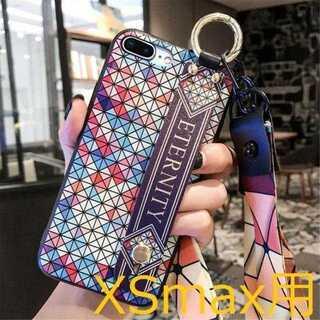 【iPhoneXSmax用】オサレさんケース ベルトリング付(iPhoneケース)