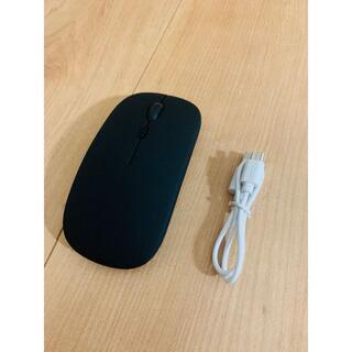 【送料込み】ワイヤレスマウス 無線 USB充電式 小型超薄型 黒(PC周辺機器)