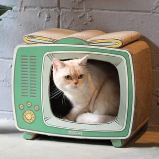 猫ちゃん 爪とぎ ハウス『テレビ』(猫)