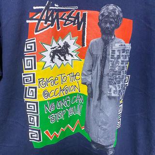 STUSSY - STUSSY Rastafari Tee 茄子紺 OLDテイストグラフィック