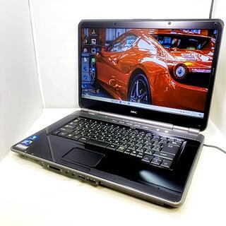 NEC - 初心者学生さん/かっこいい黒/NECノートパソコン/液晶鮮やか/DVD見れます