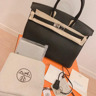 エルメス(Hermes)の エルメス バーキン35 ブラック トゴ シルバー金具  HERMES (ハンドバッグ)