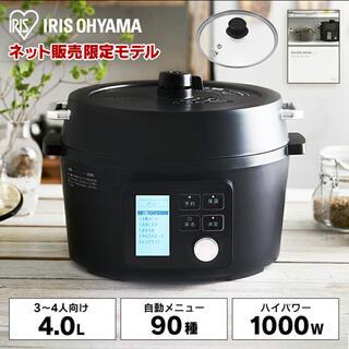 アイリスオーヤマ(アイリスオーヤマ)の圧力鍋 電気圧力鍋 アイリスオーヤマ 4.0L ブラック PMPC-MA4-B(調理機器)