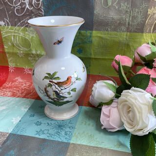 ヘレンド(Herend)のヘレンド ロスチャイルドバード 花瓶 フラワーベース(花瓶)