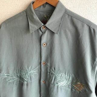 バンブーケイ アロハシャツ  パイナップル 刺繍 Bamboo Cay
