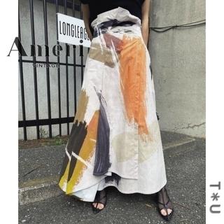 アメリヴィンテージ(Ameri VINTAGE)のAMERI LOUISE ART SKIRT(ロングスカート)