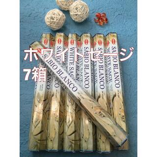 お香 HEM ホワイトセージ  7箱セット スティック #香る城NET(お香/香炉)