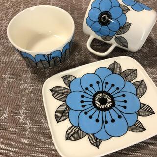 marimekko - 美品 マリメッコ ケスティト ブルー マグカップ スクエアプレート ボウル