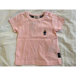 しまむら - 半袖 ポロベア ポロベイビー くま Tシャツ トップス 80 ピンク しまむら