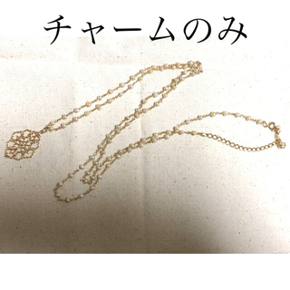 agete - 【美品】アガット K10ジャスミンチャーム&パールネックレス agete