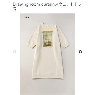 ジェーンマープル(JaneMarple)の【新品】ジェーンマープルDrawing room curtainスウェットドレス(ひざ丈ワンピース)