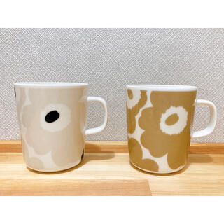 marimekko - マリメッコ ウニッコ ベージュマグカップセット