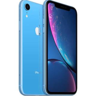 アップル(Apple)のiPhone XR ブルー美品(スマートフォン本体)