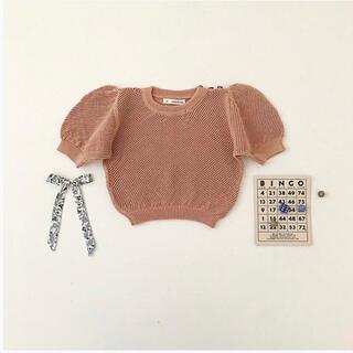 キャラメルベビー&チャイルド(Caramel baby&child )のsoor ploom  mimi knit tops moth 4-5y(ニット)